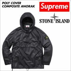 シュプリーム Supreme ジャケット メンズ ストーンアイランド Stone Island POLYETHYLENE ANORAK ブラック