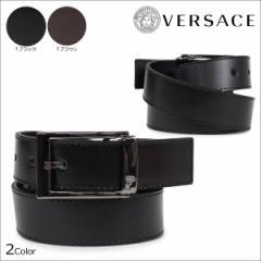 ヴェルサーチ ベルト VERSACE ベルサーチ メンズ 本革 レザーベルト ブラック ブラウン イタリア製 ビジネス V91178S