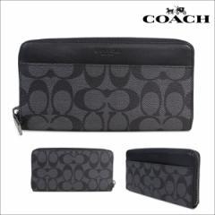 コーチ COACH 財布 長財布 メンズ レザー 本革 F58112 CQBK チャコール ブラック