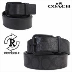 コーチ COACH ベルト メンズ 本革 レザー リバーシブル ビジネス ブラック F64839 BKBK