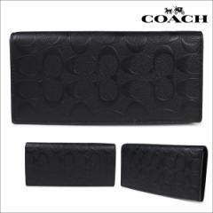 コーチ COACH 財布 長財布 メンズ F75365 ブラック