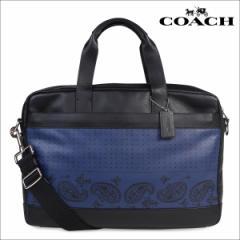 コーチ ビジネスバッグ メンズ COACH ブリーフケース レザー F56021 インディゴ×ブラックバンダナ