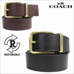 コーチ COACH ベルト メンズ 本革 レザー リバーシブル ビジネス F64840 ブラック ダークブラウン [5/1 再入荷]
