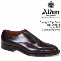 ALDEN オールデン オックスフォード シューズ メンズ STRAIGHT TIP BAL OXFORD Dワイズ 905 [4/6追加入荷]