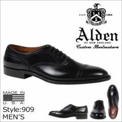 ALDEN オールデン オックスフォード シューズ メンズ MEDALLION TIP BAL OXFORD Dワイズ 909