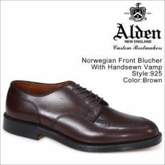 ALDEN オールデン ローファー シューズ メンズ NORWEGIAN FRONT BLUCHER WITH HANDSEWN VAMP Dワイズ 925