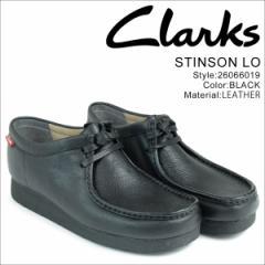 クラークス ワラビー ブーツ ロー メンズ Clarks STINSON LO 26066019 靴 ブラック
