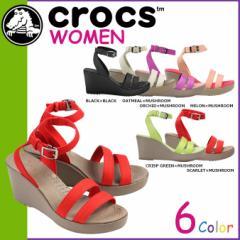 クロックス crocs レディース サンダル アレイ ウエッジ WOMENS LEIGH WEDGE 11382 海外正規品