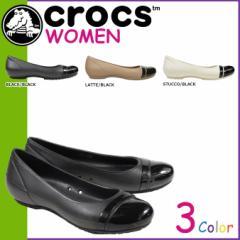 クロックス crocs レディース サンダル パンプス キャップトゥ CAP TOE FLAT 12300 海外正規品
