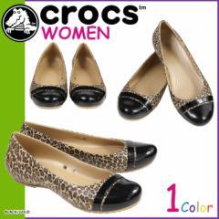 クロックス crocs レディース サンダル パンプス キャップトゥ CAP TOE GRAPHIC FLAT 200681 海外正規品