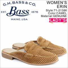 G.H. BASS ローファー ジーエイチバス レディース サンダル スリッパ バブーシュ ERIN MULE 71-21386 靴 キャメル