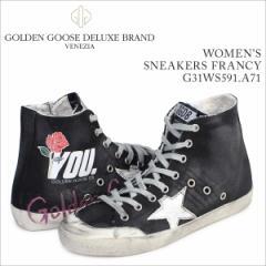 ゴールデングース Golden Goose スニーカー レディース フランシー SNEAKERS FRANCY イタリア製 G31WS591 A71 靴 ブラック