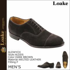 ローク Loake 1880 オールドウィッチ オックスフォード シューズ ALDWYCH SUEDE TOE CAP OXFORD フィッティングF ダークブラウン メンズ