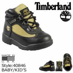 ティンバーランド Timberland ベビー キッズ FIELD BOOT TD ブーツ フィールドブーツ 40846 ブラック ゴールド[BJ]