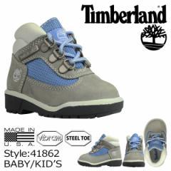 ティンバーランド Timberland ベビー キッズ FIELD BOOT TD ブーツ フィールドブーツ 41862 グレー