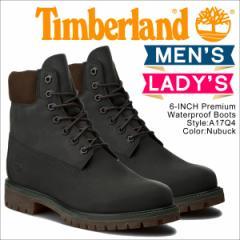 ティンバーランド ブーツ メンズ 6インチ Timberland 6INCH PREMIUM WATERPROOF BOOTS A17Q4 Wワイズ プレミアム 防水 グレー