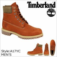 ティンバーランド ブーツ メンズ 6インチ Timberland 6INCH PREMIUM WATERPROOF BOOTS A17YC Wワイズ プレミアム 防水 オレンジ