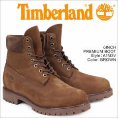 ティンバーランド ブーツ メンズ 6インチ Timberland 6INCH PREMIUM BOOT A1M3V プレミアム Wワイズ 防水 ブラウン