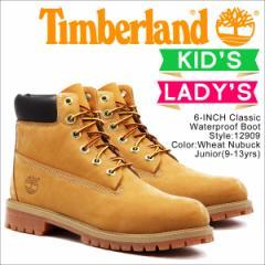 ティンバーランド レディース ブーツ 6インチ Timberland JUNIOR 6INCH PREMIUM WATERPROOF BOOTS 12909 [2/19 追加入荷]