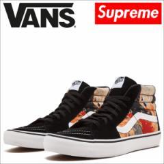 VANS Supreme シュプリーム バンズ SK8-HI PRO スニーカー メンズ ヴァンズ BLOOD AND SEMEN VN0A347TRZW 靴 ブラック