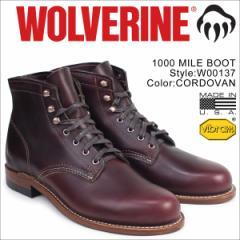 ウルヴァリン WOLVERINE 1000マイル ブーツ 1000MILE ワークブーツ BOOT NO 8 W00137 コードバン メンズ