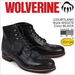 ウルヴァリン 1000マイル ブーツ WOLVERINE 1000MILE ワークブーツ COURTLAND BOOT Dワイズ W00279 ブラック