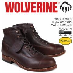ウルヴァリン 1000マイル ブーツ WOLVERINE ROCKFORD 1000 MILE CAP-TOE BOOT Dワイズ W05293 ブラウン ワークブーツ メンズ