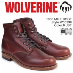 ウルヴァリン 1000マイル ブーツ WOLVERINE ブーツ 1000 MILE BOOT Dワイズ W05299 ラスト ワークブーツ メンズ