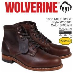 ウルヴァリン 1000マイル ブーツ WOLVERINE 1000 MILE BOOT Dワイズ W05301 ブラウン ワークブーツ