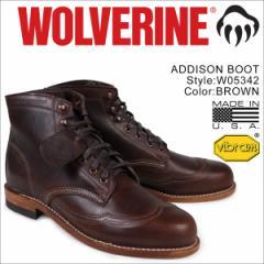 ウルヴァリン 1000マイル ブーツ WOLVERINE ADDISON 1000MILE WINGTIP BOOT Dワイズ W05342 ウィングチップ ワークブーツ メンズ