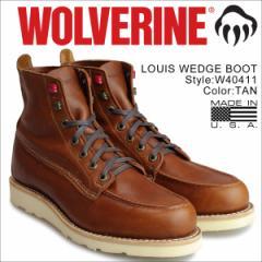 ウルヴァリン ブーツ WOLVERINE メンズ LOUIS WEDGE BOOT Dワイズ W40411 ブラウン ワークブーツ