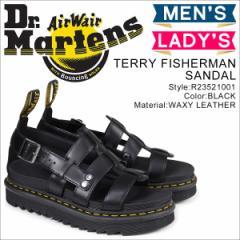 ドクターマーチン フィッシャーマン メンズ レディース Dr.Martens サンダル TERRY FISHERMAN SANDAL ブラック R23521001 [予約商品 4/24