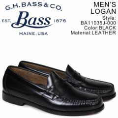 G.H. BASS ローファー ジーエイチバス メンズ WEEJUNS LOGAN ブラック BA11035J-000