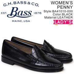 G.H. BASS ローファー ジーエイチバス レディース WEEJUNS PENNY LOAFERS ブラック BA41010-000