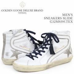 ゴールデングース Golden Goose スニーカー メンズ スライド SNEAKERS SLIDE ホワイト G32MS595 TEX