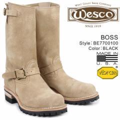 ウエスコ ボス WESCO ブーツ 11インチ エンジニア 11INCH BOSS Eワイズ スエード メンズ ベージュ BE7700100 ウェスコ