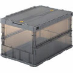 トラスコ中山(TRUSCO) [TSK-C50B  BK] スケルコンオリコン50L(ロック蓋付) 透明 黒 TSKC50BBK