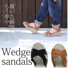 『ウェッジサンダル』【サンダル レディース 靴 ポリエステル レディース靴 ジュート  GSZ9336-GSZ9337】