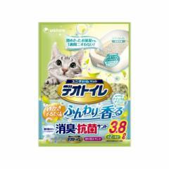 ユニ・チャーム 1週間消臭・抗菌デオトイレふんわり香る消臭・抗菌サンドナチュラルグリーンの香り3.8L