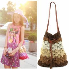 カラフルファッションバック ショルダーバッグ かばん かごバック 新作 カバン 鞄 編込み ポシェット 巾着 バッグ