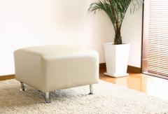 《*送料無料》 レザースツール・オットマン スツール 椅子 イス ベンチ ミニベンチ レザー エレガント ベンチスリム スクエア