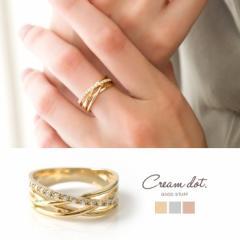 【ゆうパケット送料無料】リング 指輪 (9号 11号 13号) 重ね付け ピンクゴールド シルバー