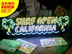 ネオンサイン ネオン 看板 電飾看板 ライト インテリア アメリカン 店舗 ショップ OPEN サーフショップ ヤシの木 SURF OPEN_NS-098-SHO