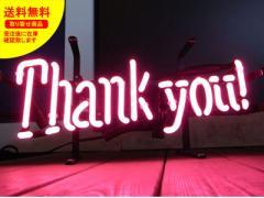 ネオンサイン ネオン 看板 電飾看板 ライト インテリア アメリカン 店舗 ショップ THANK YOU サンキュー_NS-099-SHO