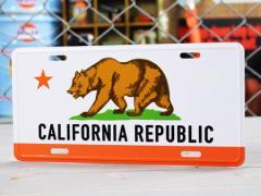 カリフォルニアリパブリック サインプレート 看板 ライセンスプレート ナンバープレート 車 CALIFORNIA REPUBLIC_SP-CMP014-SHO