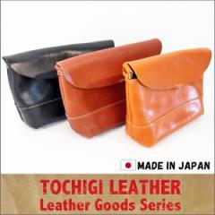 送料無料 栃木 レザー ショルダーバッグ ポシェット レディース メンズ 日本製 ショルダー メッセンジャー サコッシュ 国産 本革 (全3色)
