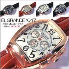送料無料 (定形外郵便配送可能/3個まで) ビックフェイス メンズ腕時計 クロノグラフ タイプ  父の日