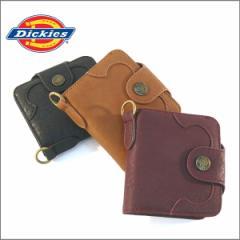 ディッキーズ 財布 Dickies ウエストチェーン 二つ折り財布 コンパクトウォレット ウォレットチェーン  札入れ プレゼント(全3色)