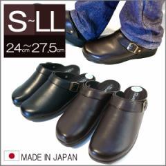 日本製 オフィスサンダル スリッポン 会社用に メンズサンダル メンズシューズ (全2色)