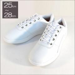 スニーカー 白 メンズ 大きいサイズ 痛くない 運動靴 紐靴 (ホワイト)